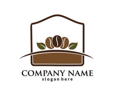 Coffee cafe bistro vector logo design template