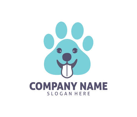 Pet Cat Dog Clinic Shop Adoption Vector Icon Design Template ...
