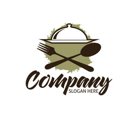 restaurant cafe bistro cooking chef vector logo design template Illustration