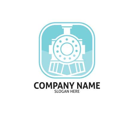 train and subway transportation vector icon logo design template