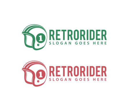 modello di progettazione di logo di vettore di comunità di club negozio appassionato di motociclista retrò
