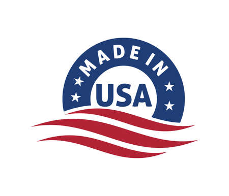 made in america vector logo design template