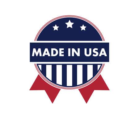 made in america vector logo design template Illustration