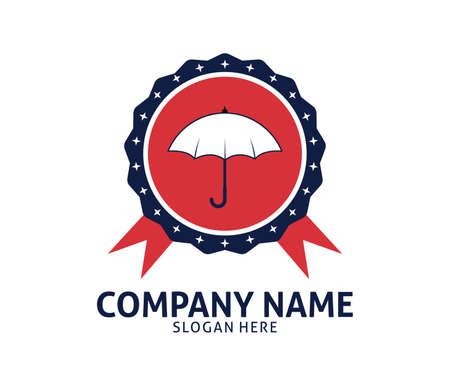 umbrella illustration protection vector logo design template