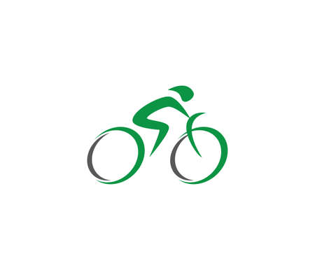 abstract bicycle icon or vector logo design template Иллюстрация