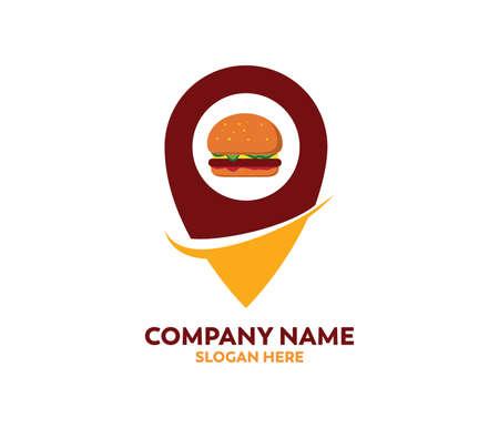 burger vector for restaurant or street food cafe icon logo design template
