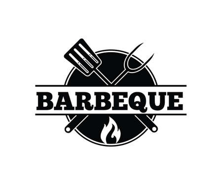 BBQ barbecue vector icon emblem logo design template Stock fotó - 103324226