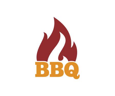 Modèle de conception de logo emblème barbecue barbecue vector icon