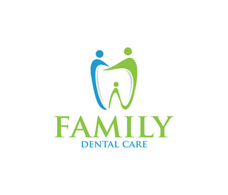 dental dentistry vector icon symbol logo design template
