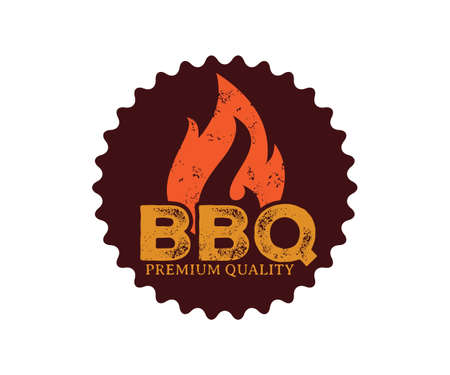 BBQ barbecue vector icon emblem logo design template