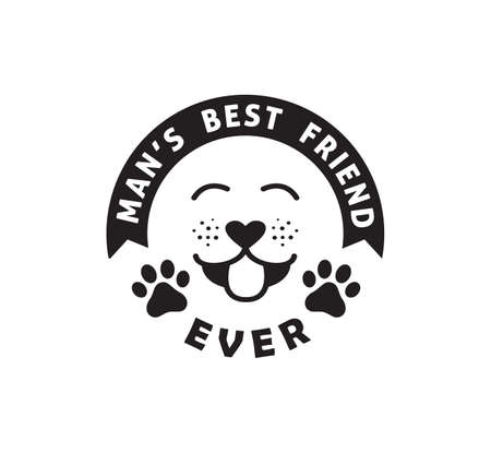 dog man's best friend funny pet quote poster typography vector design template
