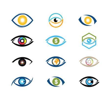 digitale Vision Augentechnologie Vektor-Logo Design-Vorlage