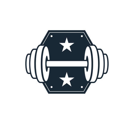 strong favorite fitness body building vector logo design template