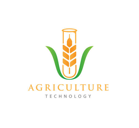 vector or icon logo concept design template for agriculture technology, agriculture business, education, field soil land process, crop farm