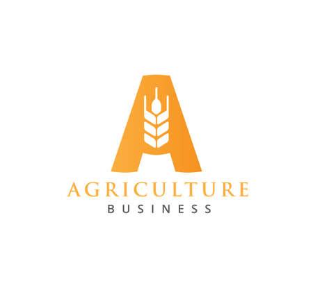modèle de conception de concept de logo vectoriel ou icône pour la technologie de l'agriculture, les affaires agricoles, l'éducation, le processus de terre de terrain