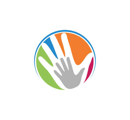 child care parenting education and adoption vector logo design template