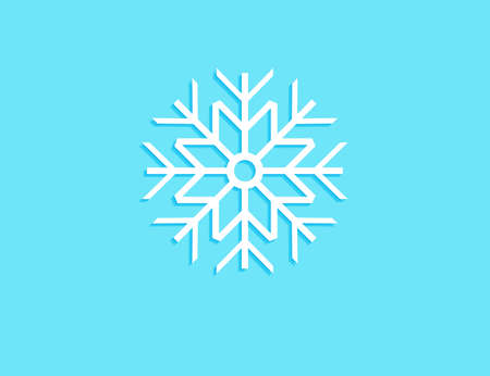 snowflakes piece in the light blue background vector design for cover, greeting card, poster, and more