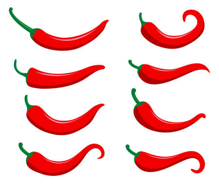 chili hot and spicy food vector logo design inspiration for mexican cuisine brand Illustration