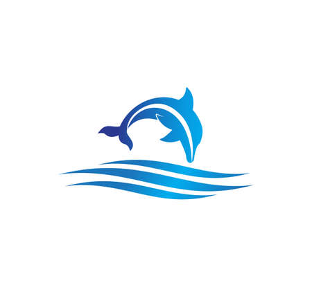 dolphin smart animal vector logo design inspiration for sanctuary, zoo, park, and other business related