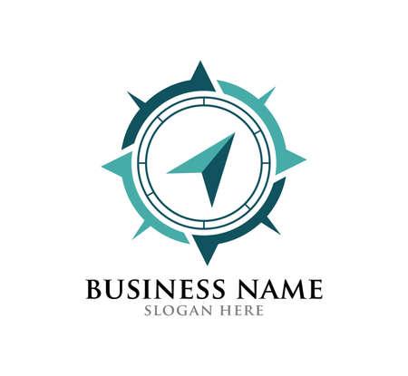 simple compass vector logo design illustration inspiration template  イラスト・ベクター素材