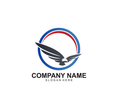 mighty eagle vector icon logo design inspiration that represents the freedom, strong, force, vision