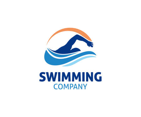 swimming water sport vector logo design inspiration for training school, club, and championship Logo