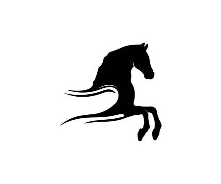 simple horse sport vector logo design inspiration for racing, equestrian and farm