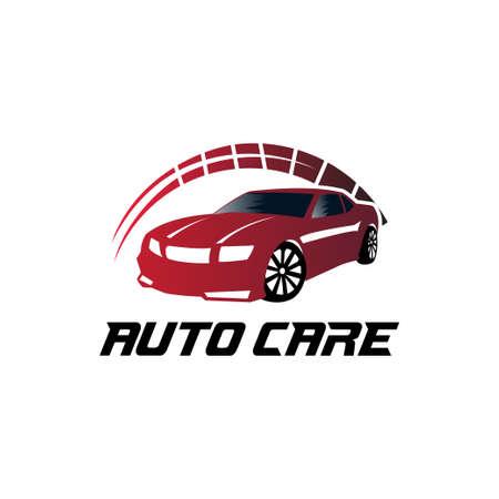 Autohändler oder Wartungsservice-Vektor-Logo-Design-Vorlage oder Illustration Logo