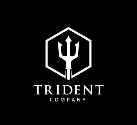 trident ocean king master vector icon logo design template Logo