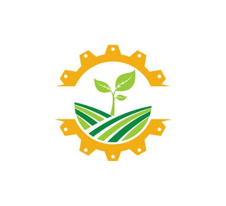 agricoltura scienza tecnologia pianta organica vettore icona logo design template Logo