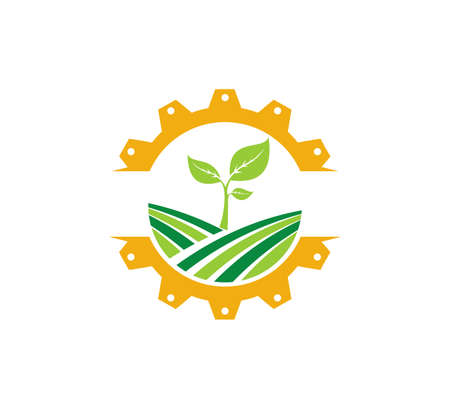 agriculture science technology organic plant vector icon logo design template Logo