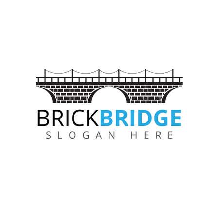 brick bridge vector icon logo design template