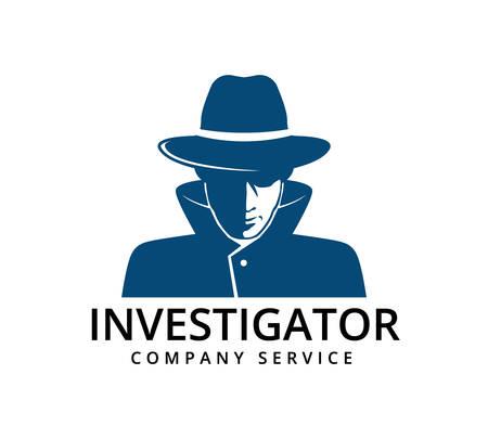 modello di progettazione del logo dell'icona di vettore del servizio di indagine investigativa