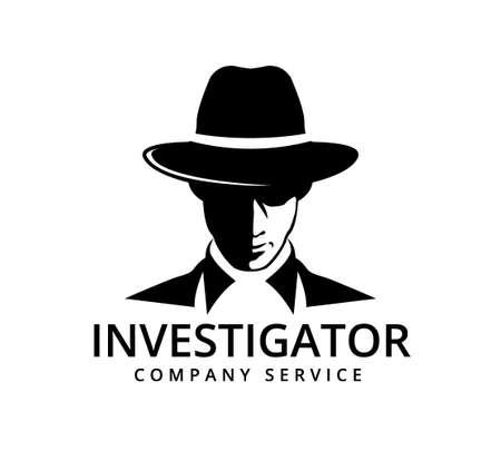detective investigation service vector icon logo design template