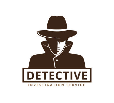 detective investigation service vector icon logo design template