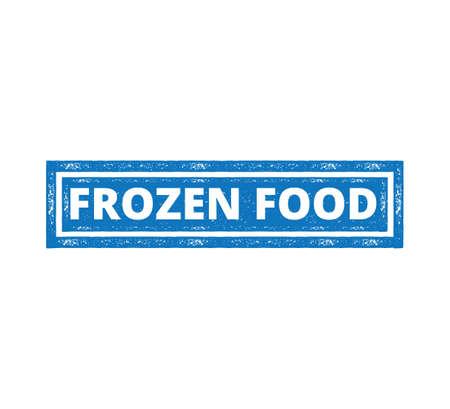 square frozen food product label grunge textured vector design template Ilustração