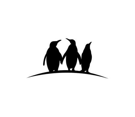 cute penguin silhouette vector design illustration Illustration
