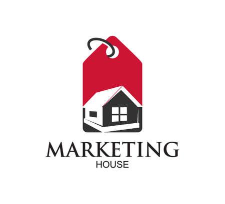 house property logo market vector design illustration template