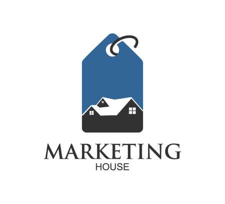 house property logo market vector design illustration template Ilustração
