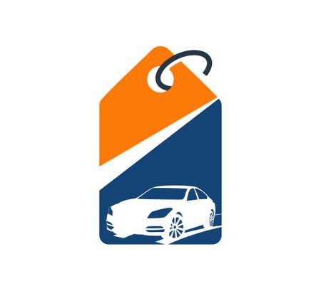 car dealer automotive pawn shop logo market vector design illustration template Illustration
