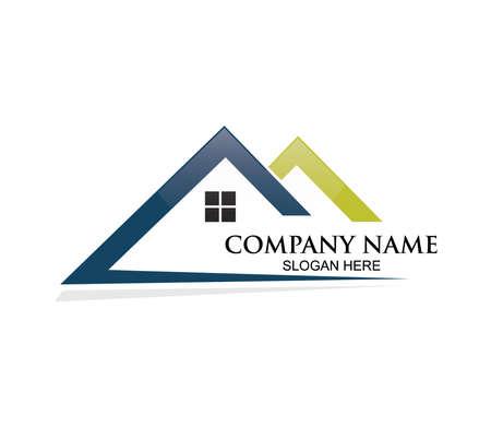 home or real estate property vector logo design concept template inspiration Illustration