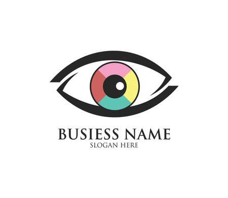 eye vision digital media vector logo design template Иллюстрация