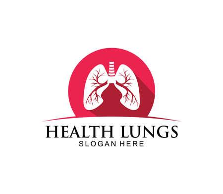 lung organ medical clinic health treatment vector logo design template Vectores
