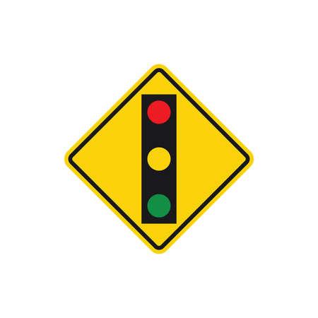 traffic light on square board sign vector design illustration  イラスト・ベクター素材