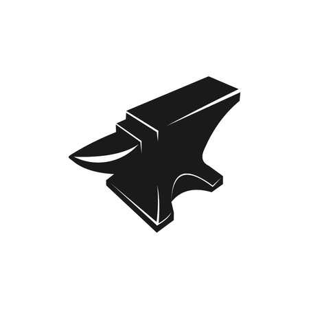 anvil blacksmith crafting vector logo design template on white Stock Illustratie