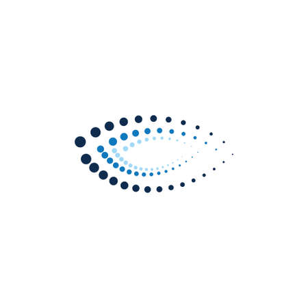orientamento tecnologico ellisse astratta formata da punti modello di progettazione illustrazione vettoriale
