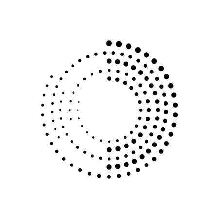technology orientation abstract circle formed from dots vector illustration design template