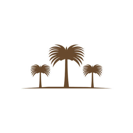 three date tree fruit palm vector logo design template