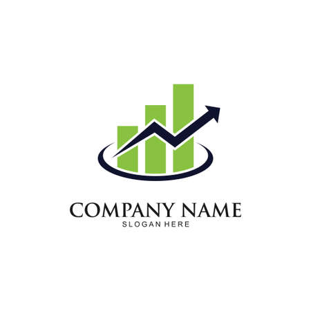financial accounting consultant market trading graphic vector logo design template