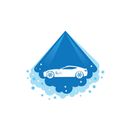 car body power cleaning and washing service vector logo design template Illusztráció